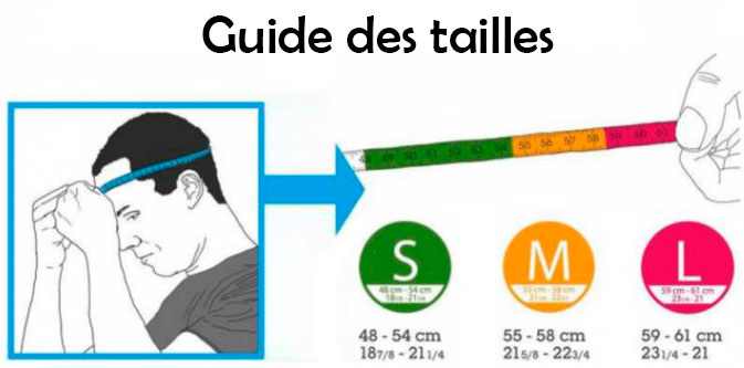 guide tailles casque